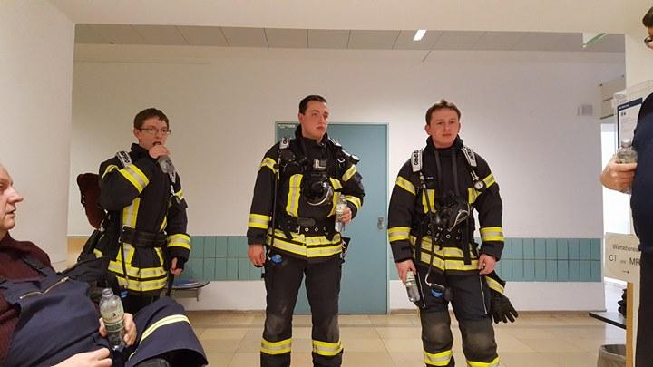 Atemschutzübung in der Uniklinik Heidelberg