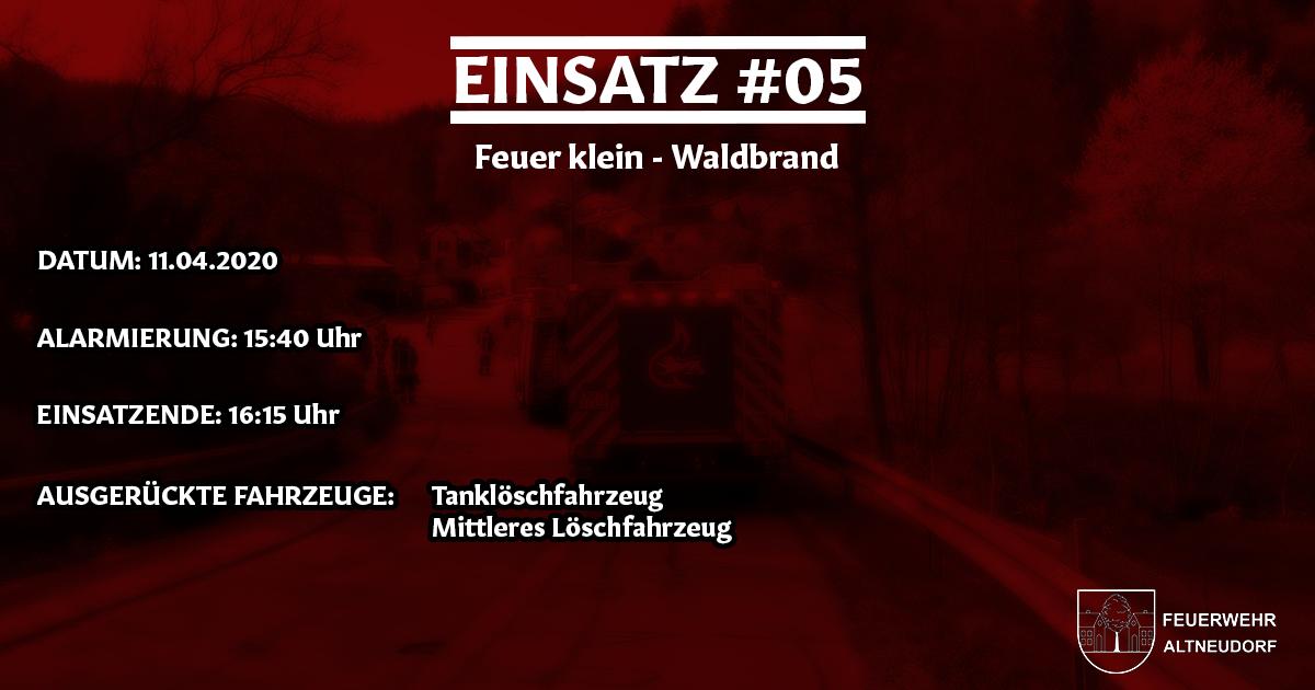 Einsatz 05/2020 – Waldbrand