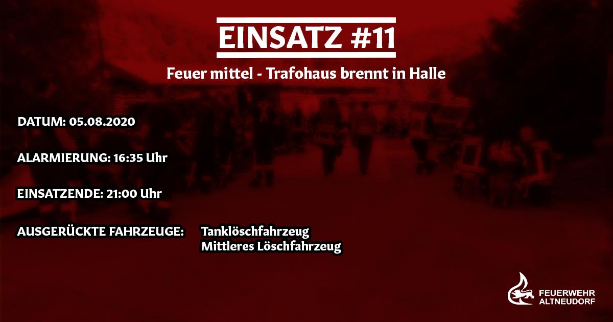 Einsatz 11/2020 – Trafohaus brennt in Halle