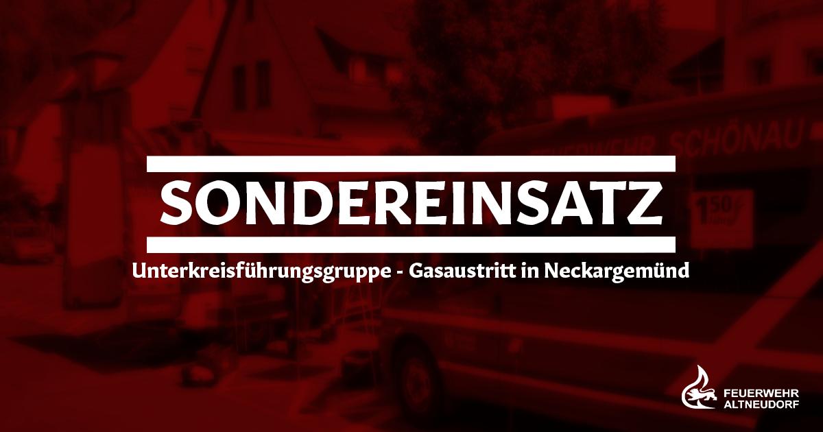 Sondereinsatz – Gasaustritt in Neckargemünd