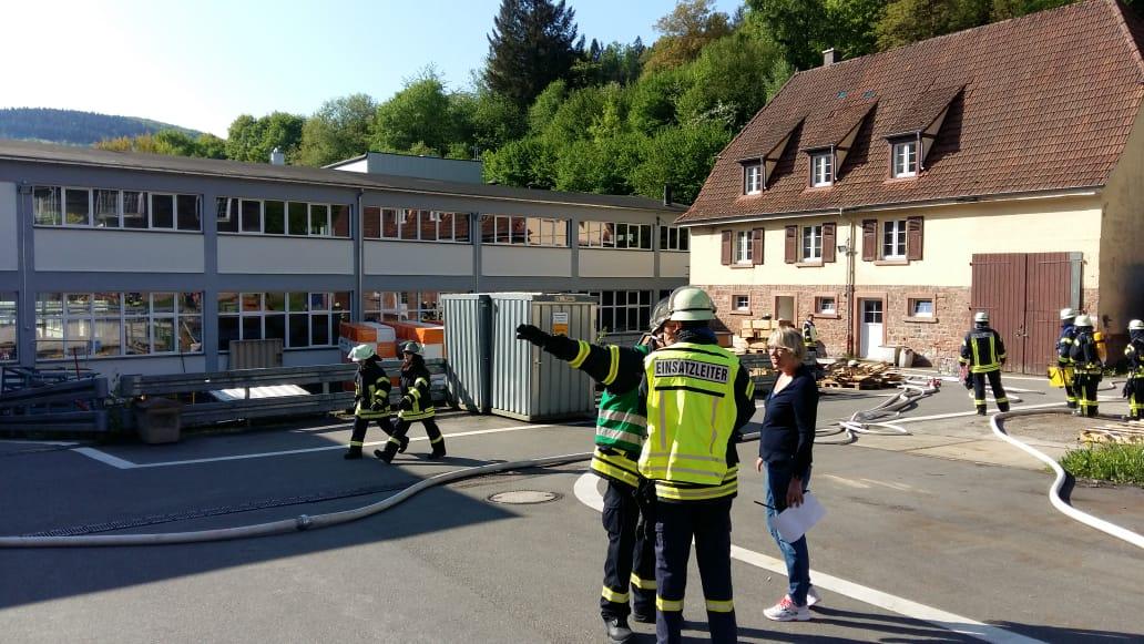 Gemeinsame Übung mit der Feuerwehr Schönau Abteilung Stadt