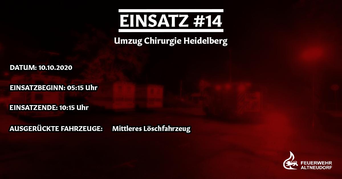 Einsatz 14/2020 – Umzug Chirurgie Heidelberg