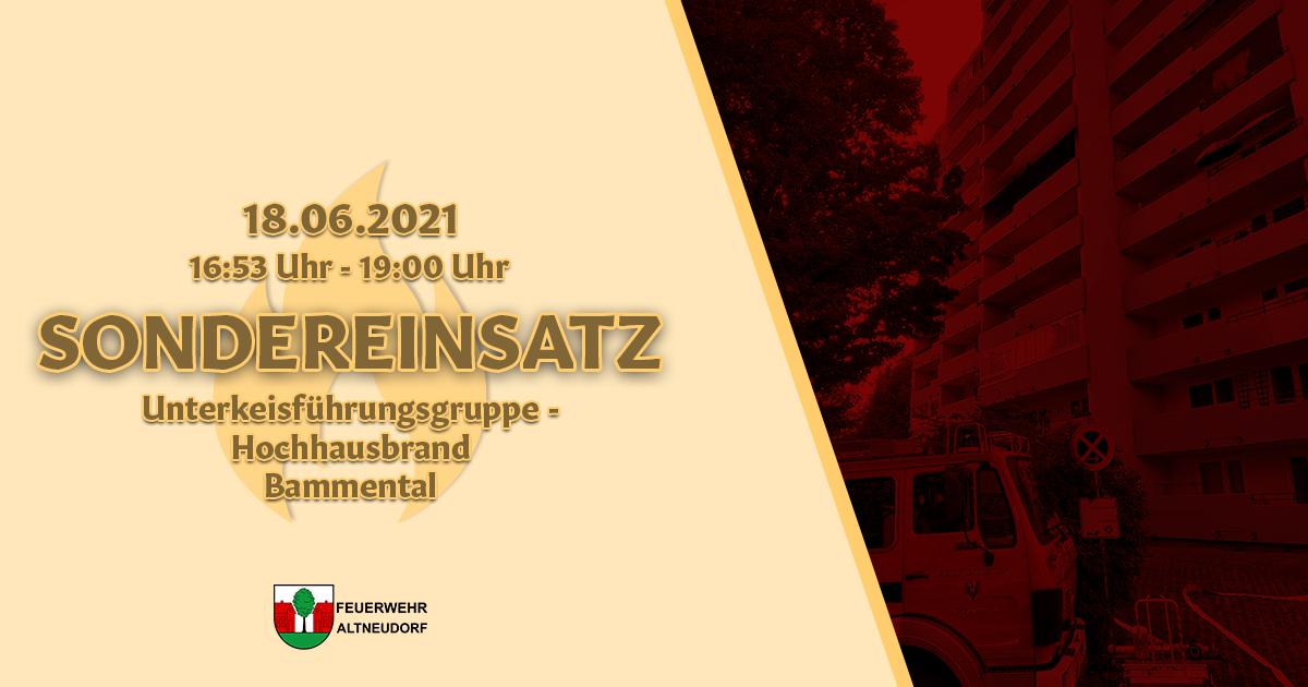 Sondereinsatz – Hochhausbrand Bammental